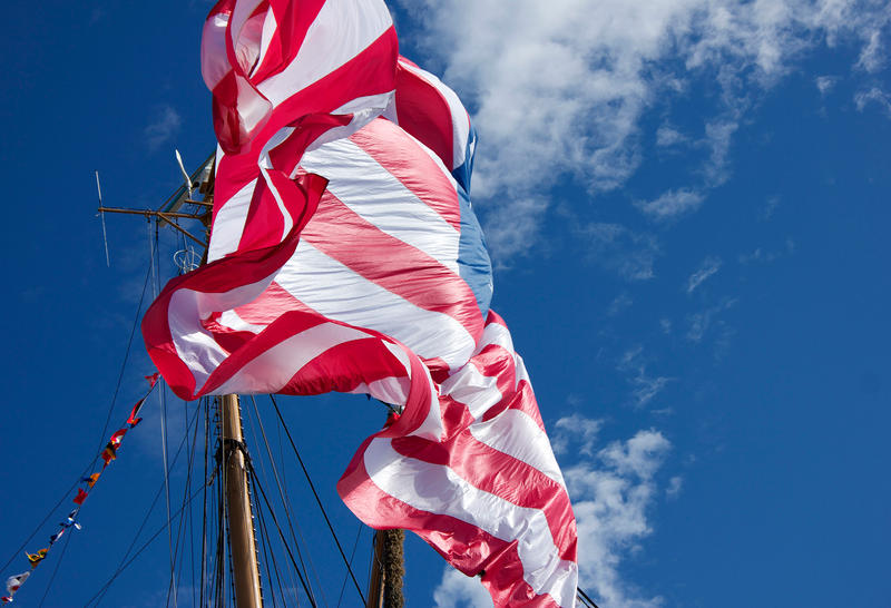 Flag in the Wind by Phoenixangelgal