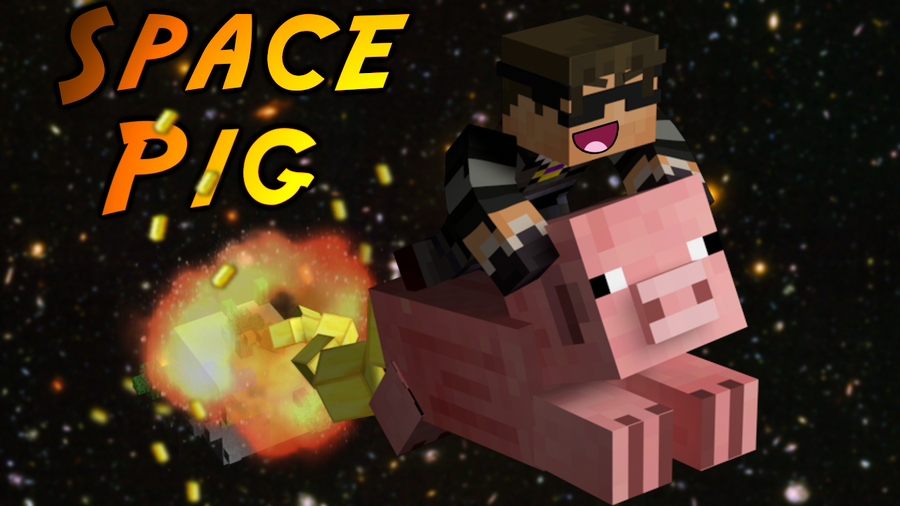 Minecraft SPAAAACE PIG by SkyDoesMinecraft