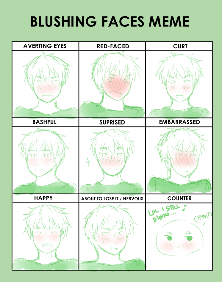 how to make a blushing face