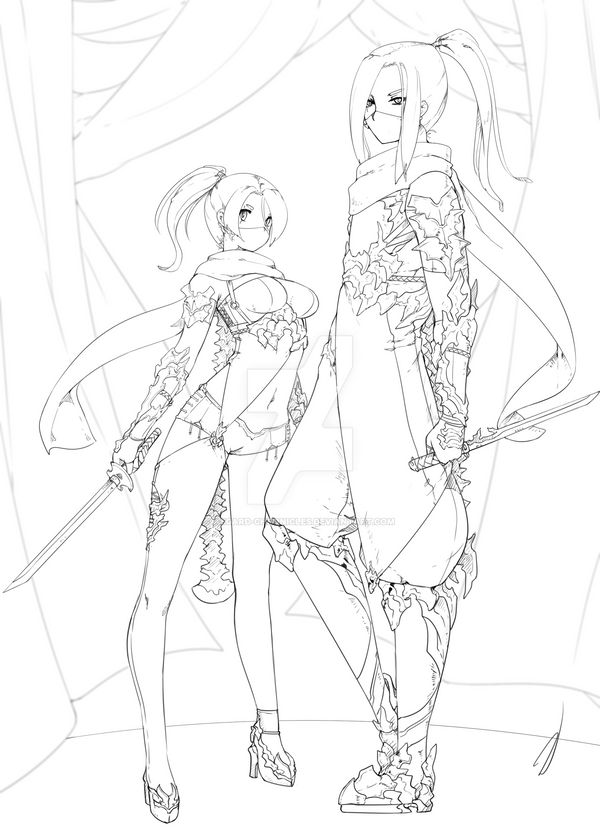 Twins Adoptable - Kiyoko and Kaito SOLD by Asgard-Chronicles