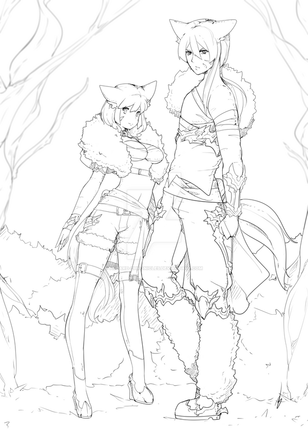 Twins Adoptable -  Leina And Leif SOLD by Asgard-Chronicles