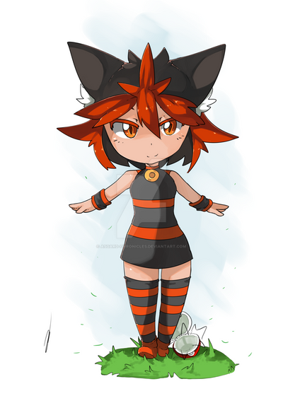 Adoptable - Gijinka Torracat SOLD by Asgard-Chronicles