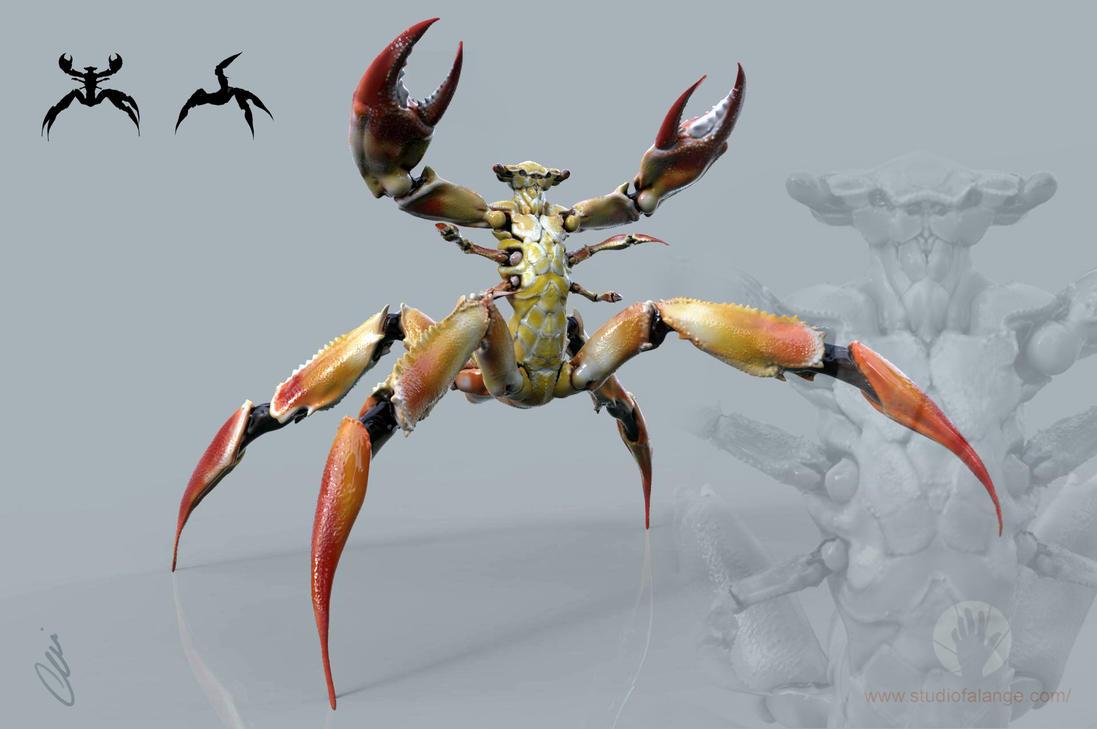 Creature design Crab. by Cleytonoliveira