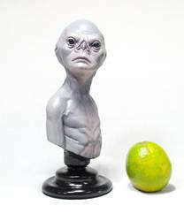 Alienigena Grey - busto by Cleytonoliveira