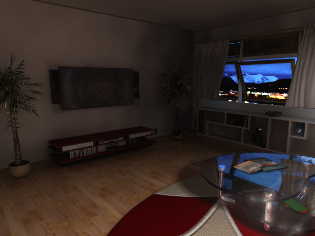 Night time living room 1 by supernenei on deviantart for Living room night