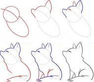 How to draw a fox - photo#27