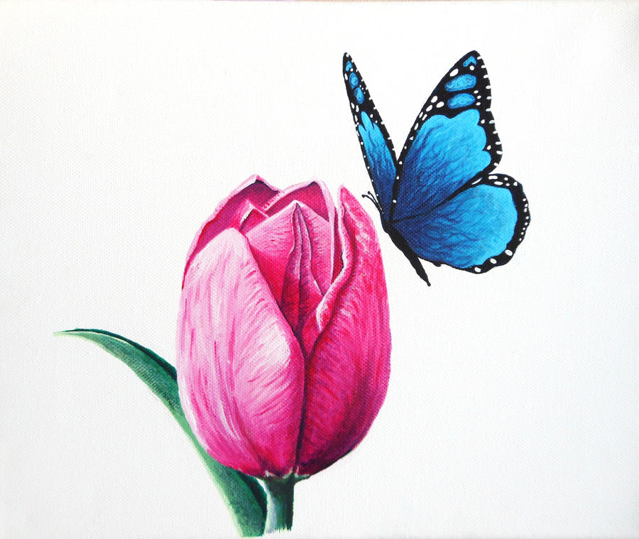 Tulip butterfly by CantStopTheBleeding on deviantART