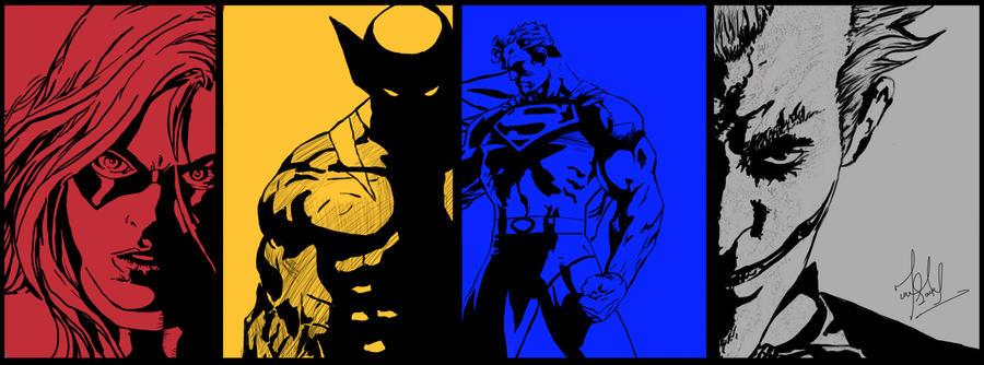 Dc Fan Art : Dc and marvel fan art by murtazasaeed on deviantart