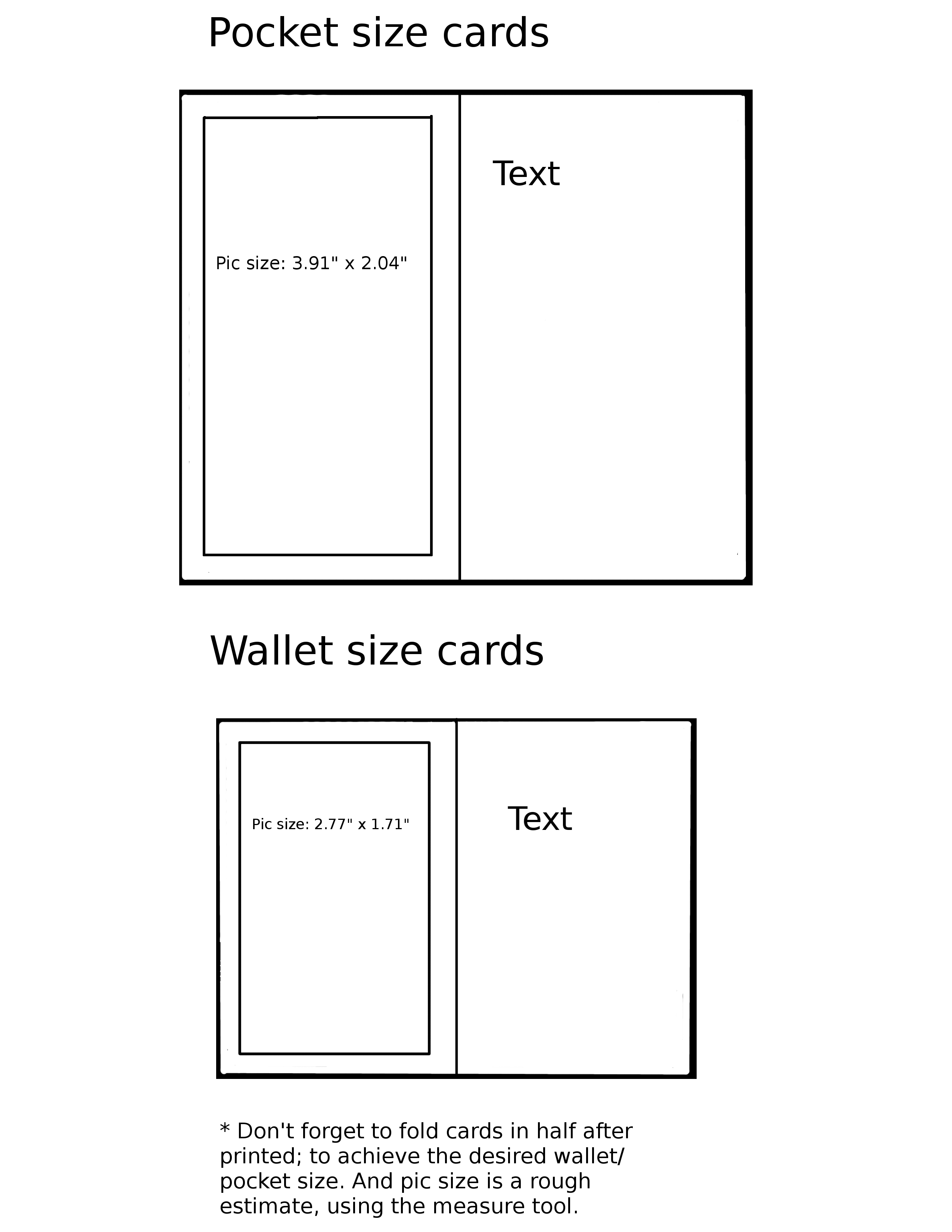 wallet card template word