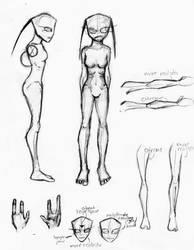 My Style of Cartoony/Realisticish Female Irkens by DemonicCow