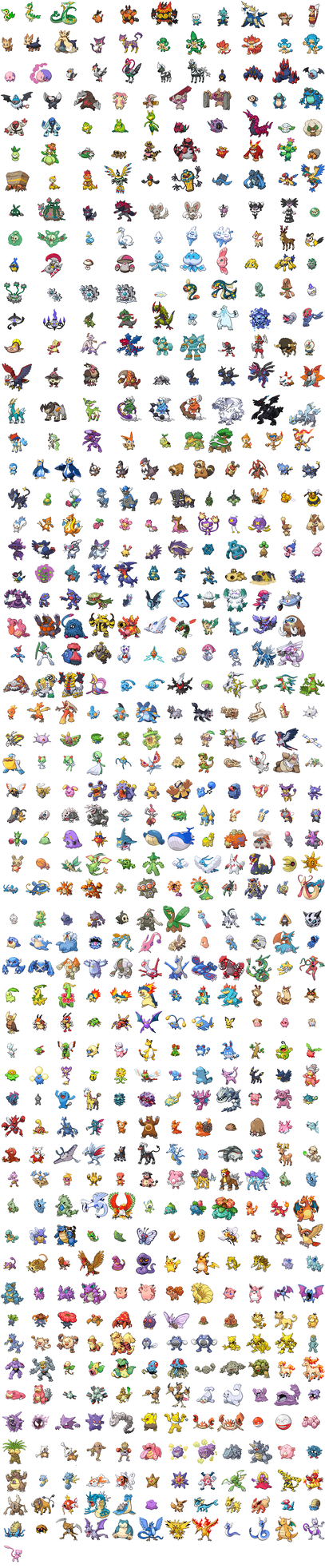 My list of sprites by JackXantho
