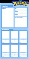 Pokemon Character Sheet BLANK