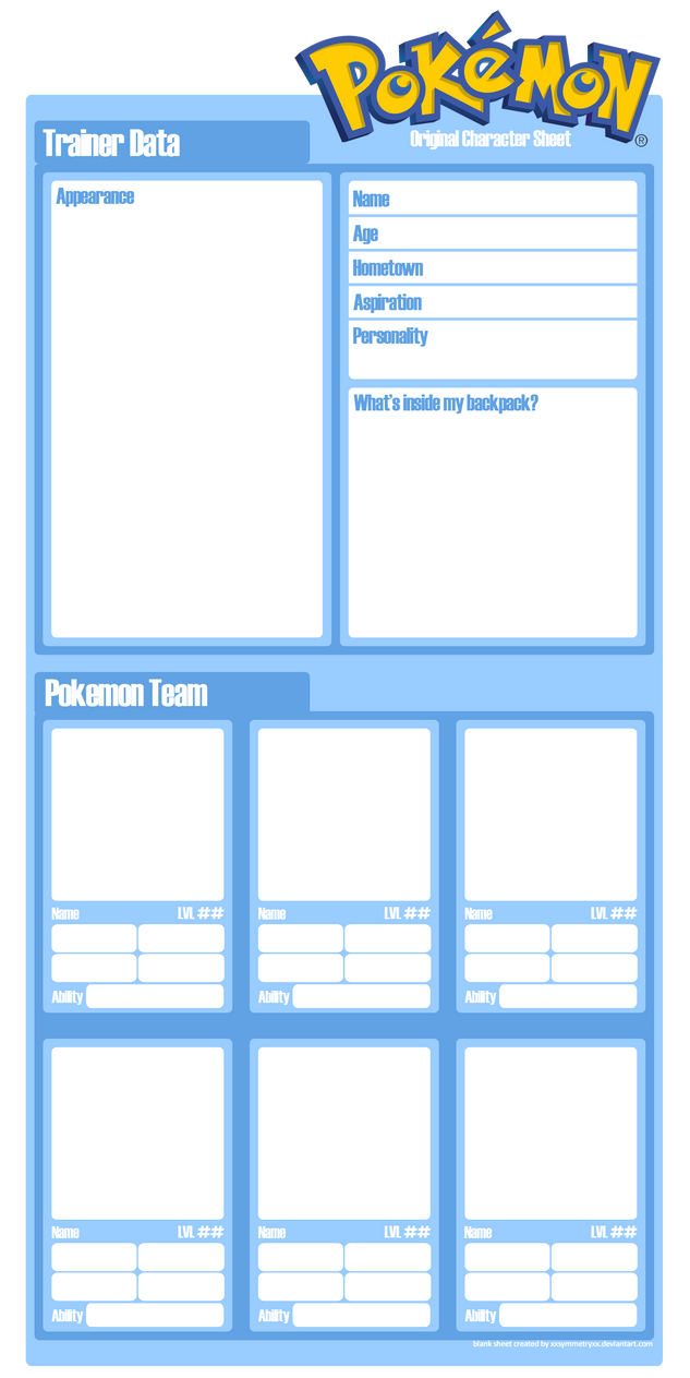 how to make your own character sheet