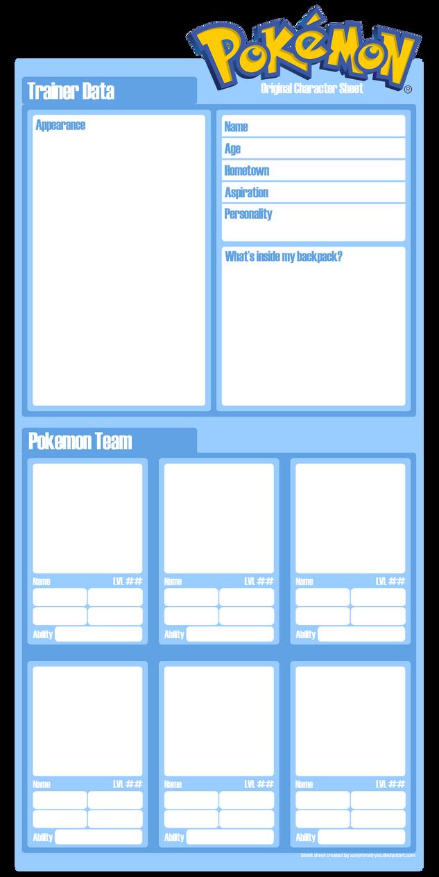 Pokemon Character Sheet Blank By Xxsymmetryxx On Deviantart