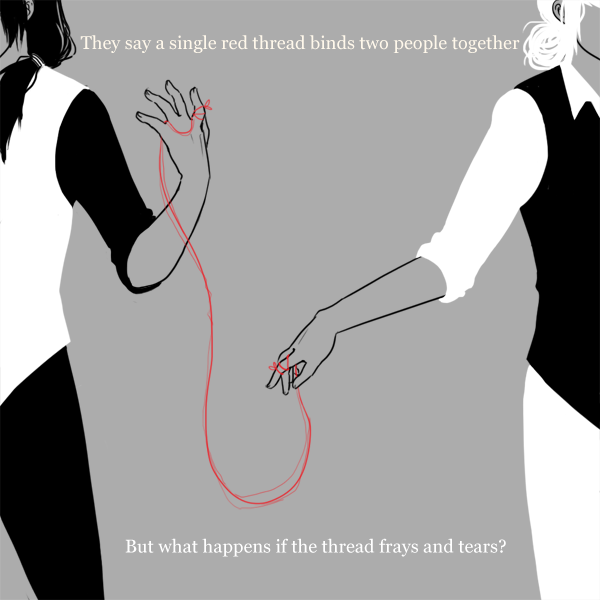 Red String of Fate Tattoo