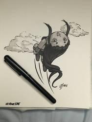 2015 Inktober 29: Chibi Starfire by Flambunny