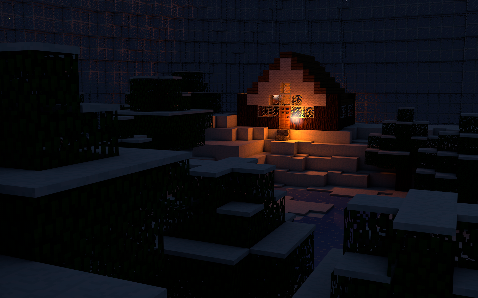 Amazing Wallpaper Minecraft Night - lonely_night_in_minecraft__by_xmax247-d5ksm9y  Image_771192.png