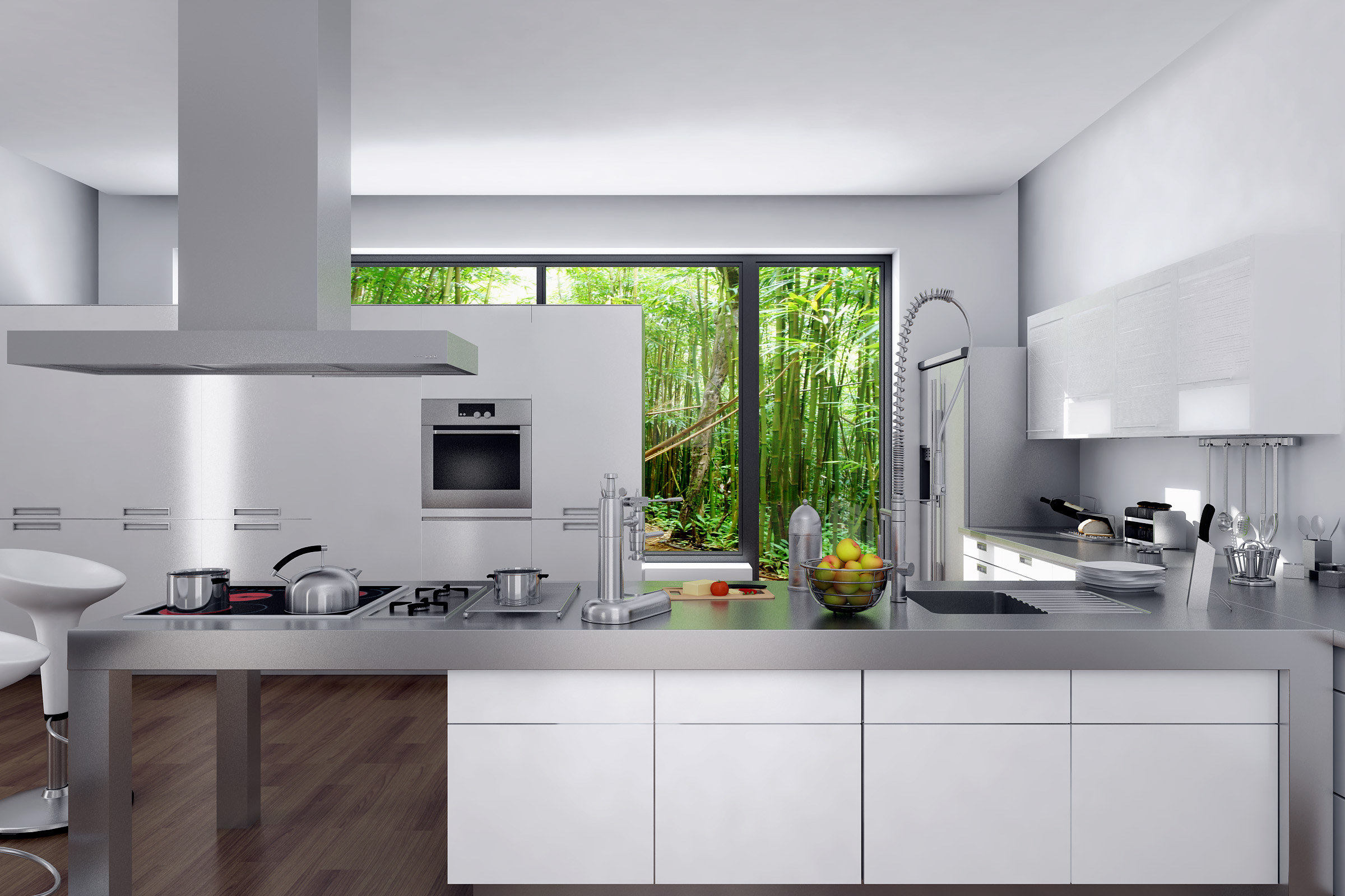 3d architectural kitchen by davidg1230 on deviantart for Architectural design kitchens
