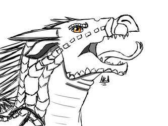 Dragon Sketch [Nightwing WoF] by Sandstorm3510