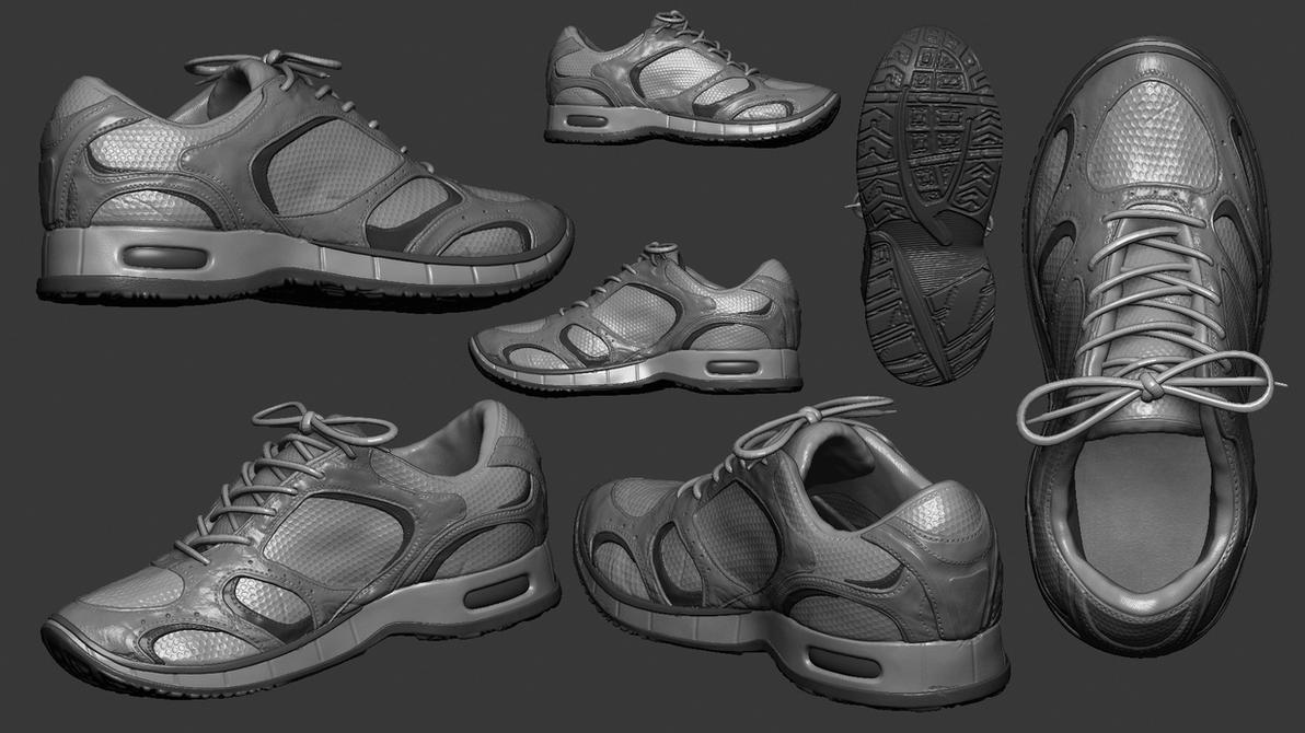 Highpoly Shoe Model - Zbrush Sculpt by vickgaza