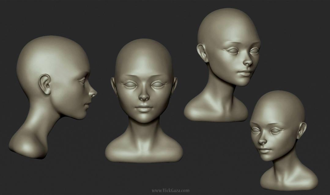 Stylised portrait practice by vickgaza