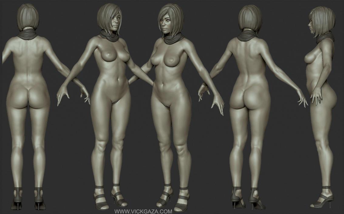 Anatomy Study Sculpt - Zbrush by vickgaza