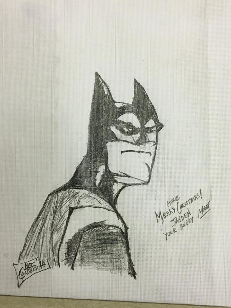 Quick Batman placemat art. by ArtHitz