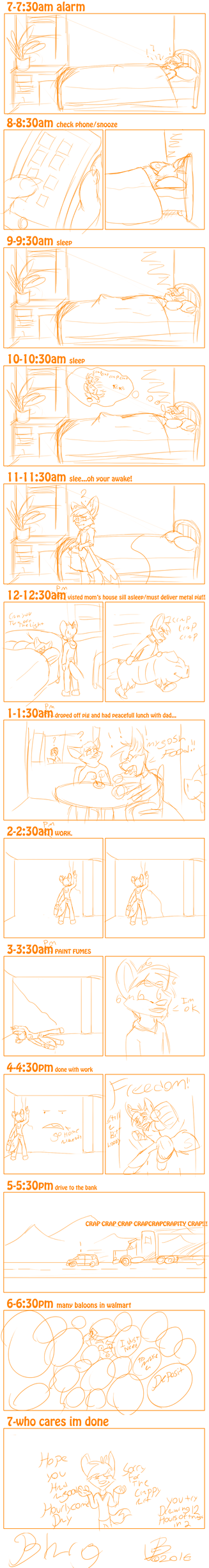 Hourly comic day! by JLindseyB