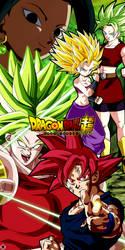 Son Goku Vs Kale And Caulifla by MiftahulDesainArt