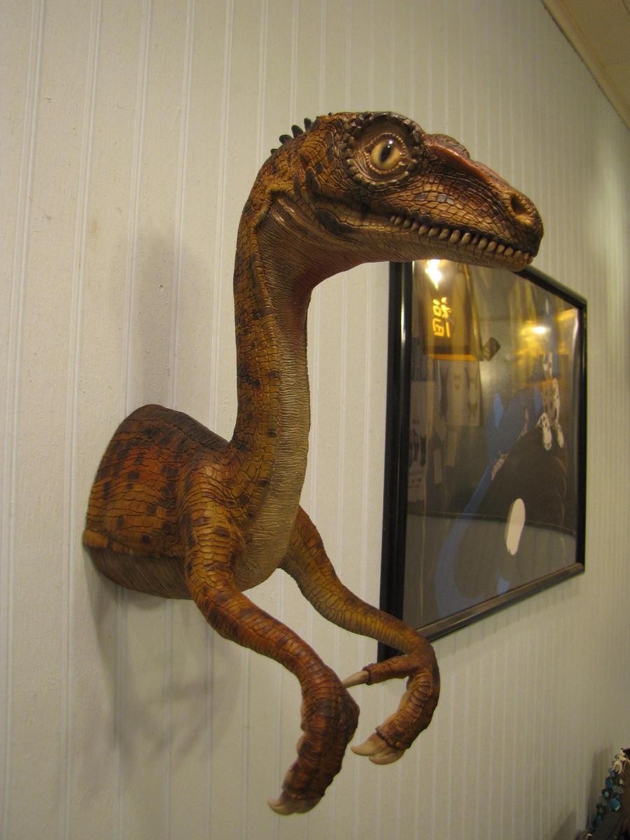 Raptor on da Wall by BlueWolfCheetah