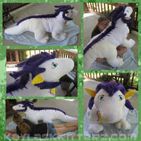 Fersir 5 foot dragon plushie by BlueWolfCheetah