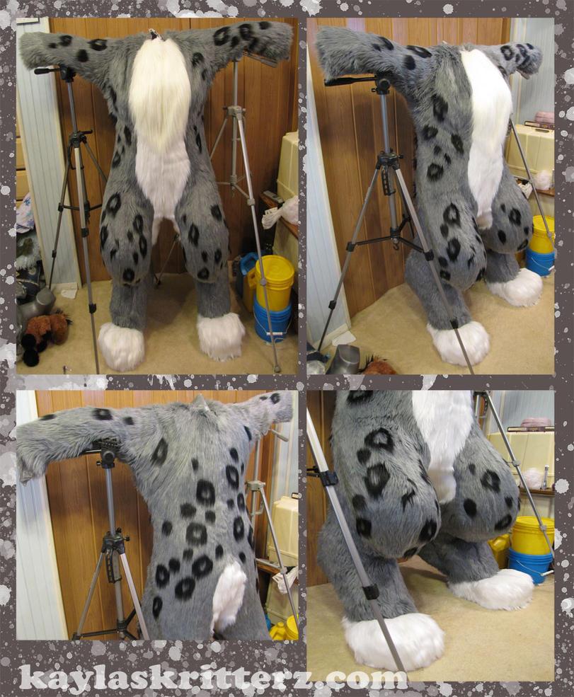 Comm: Snow Leopard Bodysuit by BlueWolfCheetah
