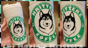 'Kritterz Coffee' Husky themed Thermal Cup (Sale)