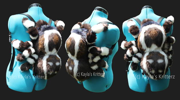 Peacock Jumping Spider Plush Backpack