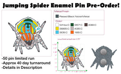 Spider Enamel Pin Pre-Order! by BlueWolfCheetah