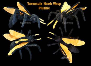 Tarantula Hawk Wasp Plush by BlueWolfCheetah