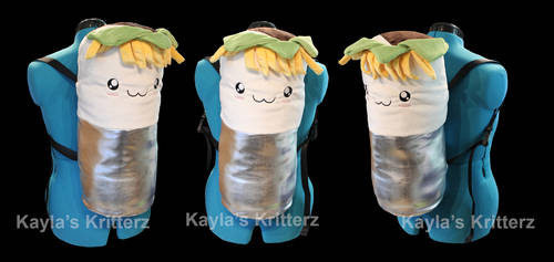 Kawaii Burrito Backpack by BlueWolfCheetah