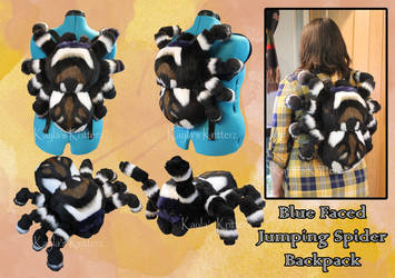 Jumping Spider Backpack--Comm by BlueWolfCheetah