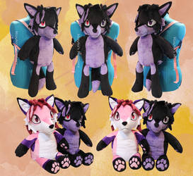 Phoxwit Fox Plushie Backpack by BlueWolfCheetah