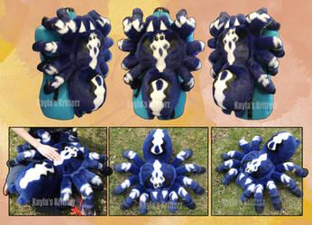 Sapphire Gooty Tarantula Plushie Backpack by BlueWolfCheetah