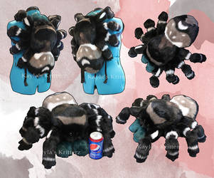 Bold Jumping Spider Backpack by BlueWolfCheetah