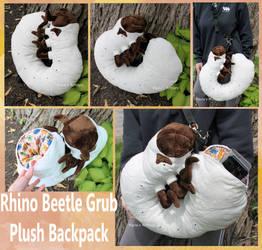 Grub Plush Backpack by BlueWolfCheetah