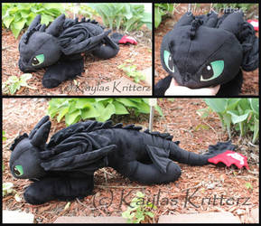 Large Toothless Plush For Sale by BlueWolfCheetah