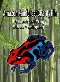 Amazon Rainforest Charity Pin: Orders are LIVE!