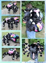 Giant Rainbow Spider plush backpack