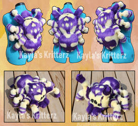 Purple and Gold Spider Plush Bag