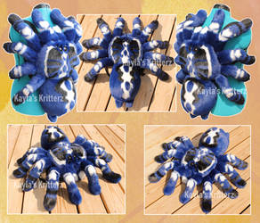 Sapphire Tarantula Plushie Backpack