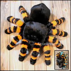 Black and Orange Tarantula Plushie Backpack