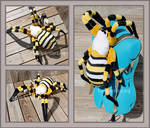 Banded Orb Weaver Plushie Backpack