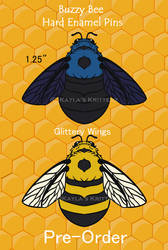 Fuzzy Bee Preorders - Hard Enamel Pins